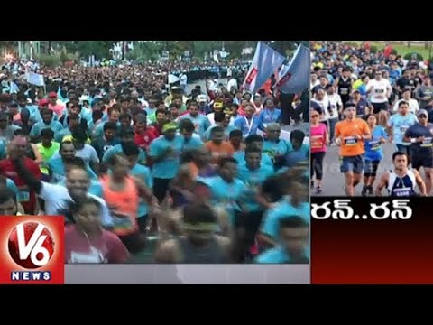Special Story On Airtel Hyderabad Marathon 2018 | V6 News