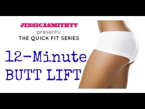 Brazilian Butt Lift: Full Length 12-Minute Butt Lift Workout (slimming hips. thighs. glutes)