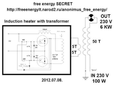 Генераторы свободной энергии схемы своими руками