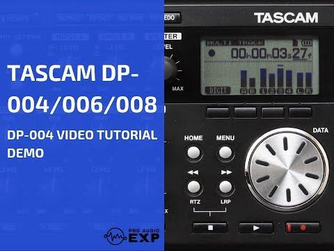 Tascam DP-004 Video Tutorial Demo Review Help Bouncing Tr...