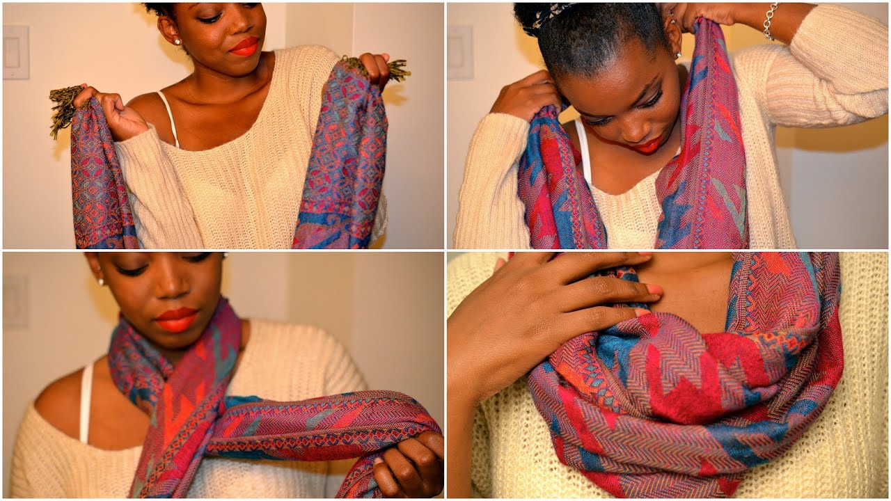 Diy No Sew Infinity Scarf Youtube