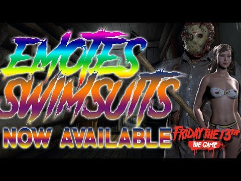 EMOTES & SWIMSUITS Now Available!! | New Patch Update | Friday the 13th: The Game