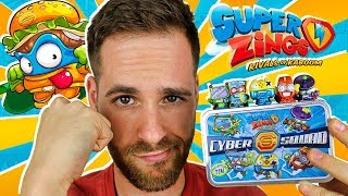 SuperZings Series 2 UNBOXING CAJA CYBER SQUAD   Mega UNBOXING SuperZings en Pe Toys