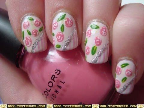 decoraciones de uñas animal print rosa