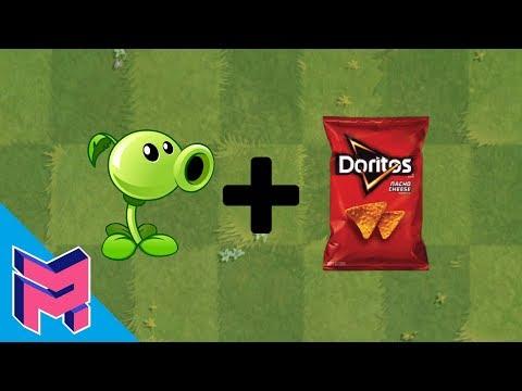 Plants vs Zombies Fusion Hack Animation ( Peashooter + Doritos )
