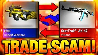 CSGO TRADE SCAM + LEGIT OR FAKE TRADING SITE SECRET SCAM!! (CS:GO)