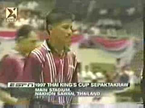 98 Sepaktakraw King's Cup - First Regu video