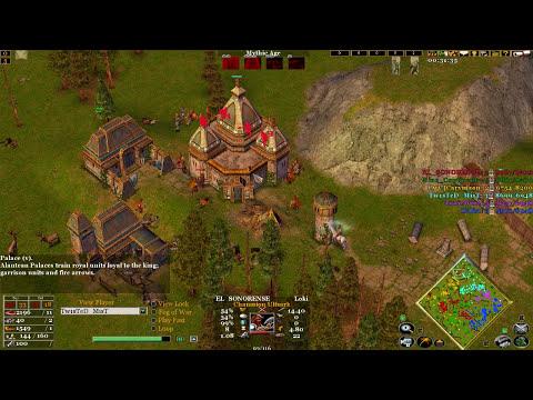 Age of mythology the TITANS 3v3 online match