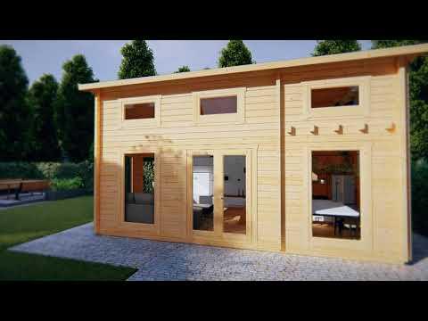 Blockhaus mit Schlafboden Schweden B