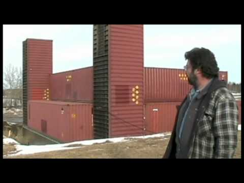 Part 1 man building amazing home with shipping containers for Cbs construction home plans