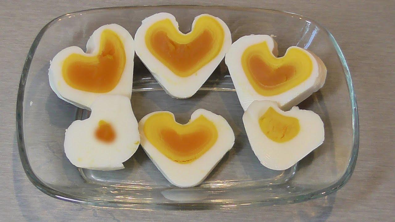 Как сделать сердечки из варёных яиц