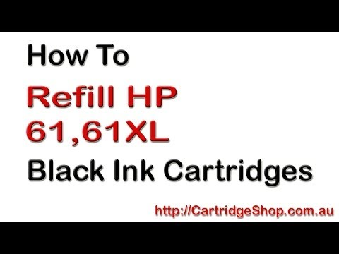 How To Refill HP 61. 61XL Black Ink Cartridge
