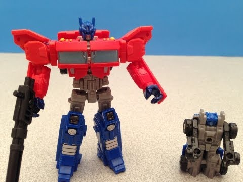 OPTIMUS PRIME AND AUTOBOT ROLLER TRANSFORMERS GENERATIONS TOY REVIEW
