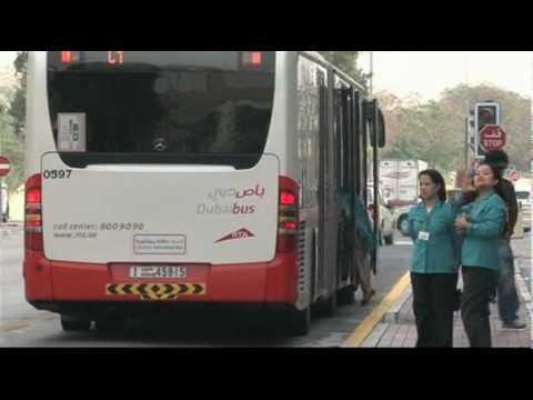 Городские автобусы Дубая.