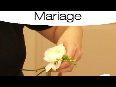 boutonni re de mariage avec des fleurs naturelles youtube. Black Bedroom Furniture Sets. Home Design Ideas