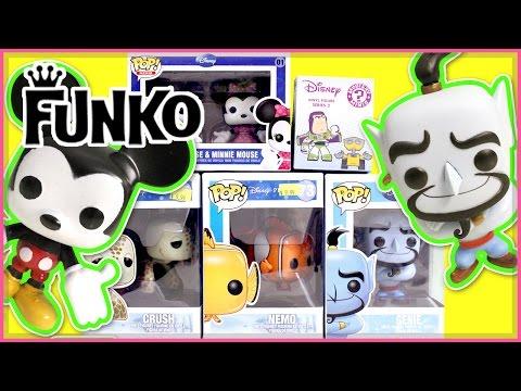 Disney/Pixar Funko Pops! & SDCC Mystery Mini - Finding Nemo - Genie - Mickey & Minnie