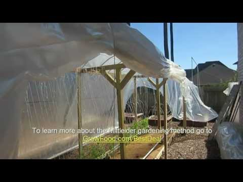 Mittleider Gardening: In-Garden Greenhouse. How To Build