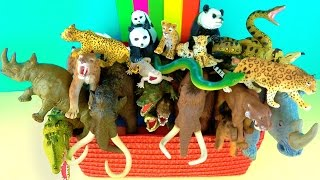Learn about Wild Animals and their Names - Zoo Animals - Mammoth - Kids Educational Toys