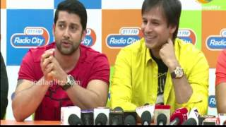 Riteish, Vivek, Aftab At Grand Masti Music Launch   Bollywood Movie   Manjari Fadnis, Karishma Tanna