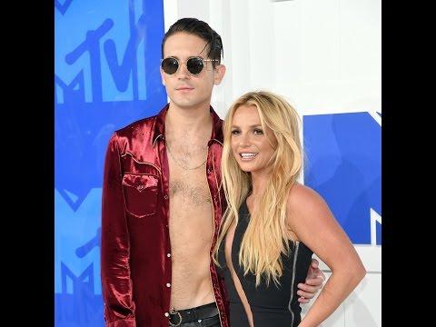Britney Spears & G-Eazy - VMAs 2016 white carpet