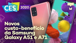 Hands on Galaxy A51 e Galaxy A71 no CES 2020 – TecMundo