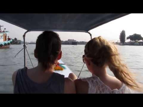 FAST AND FURIOUS long tailed boat on Chao Praya River , Bangkok Thailand 2013