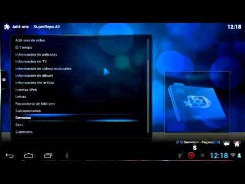instalar y configurar xbmc para android todos los canales 2014