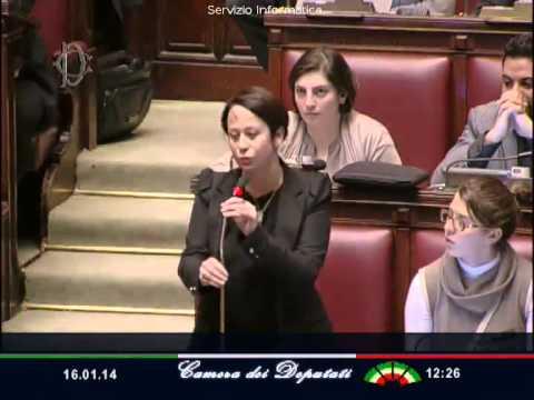 16 gennaio 2014 – Intervento in Aula
