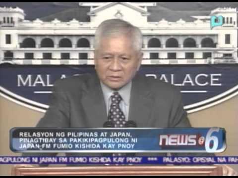 Relasyon ng Pilipinas at Japan, pinagtibay sa pakikipagpulong ni Japan FM Fumio Kishida kay PNoy