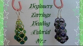 Beginners Earrings Tutorial *(2)*  Beading Tutorial by HoneyBeads1