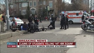 """Cop Hit in Denver by Black Benz@Mike Brown Demo-Famously Ugly Orcs of Denver Chant """"Hit Him Again"""""""