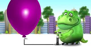 Learning color Balloon with Mokey and Dinosaurs   video for Toddlers #SKTV