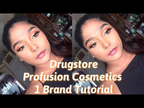 DRUGSTORE 1 brand tutorial Profusion Cosmetics ✨
