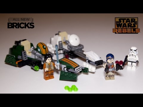 Lego Star Wars Rebels 75090 Ezra's Speeder Bike Speed Build Review
