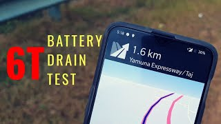 OnePlus 6T Battery Drain Test in Real Life ! 💥🌋💣