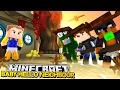 Minecraft BABY HELLO NEIGHBOUR - THE NEIGHBOUR SHOOTS LITTLE LIZARD - Donut the Dog