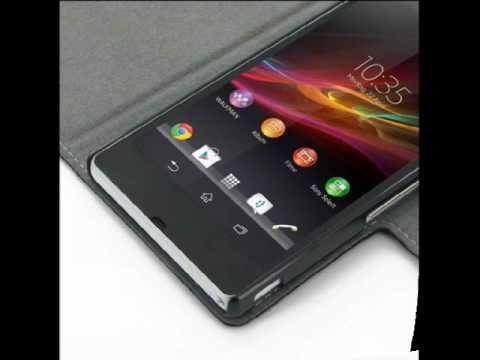 PDair Ultra Thin Leather Case for Sony Xperia Z L36H - Book Type (Black)