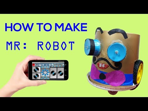 WOW ! Mr: ROBOT  DIY |  Bluetooth controlled Robot at home | How to make a simple robot