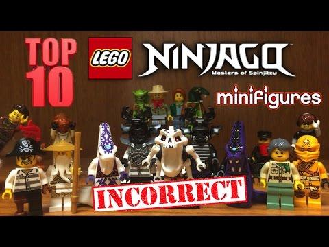 TOP 10 LEGO NINJAGO INNACURATE Minifigures 2011-2016 Seasons 1-6