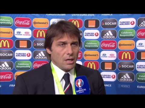 EURO 2016 Draw - Post Draw Interview - Antonio Conte (12/12/15)