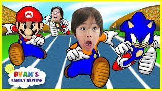 Mario and Sonic Rio Olympic! Epic Boxing Match! Let's play with Ryan's Family Review