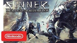 SINNER: Sacrifice for Redemption - Launch Trailer - Nintendo Switch
