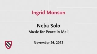 Neba Solo: Music for Peace | Radcliffe Institute