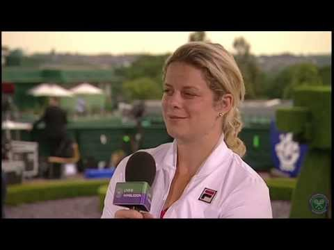Kim Clijsters visits the Live @ Wimbledon Studio