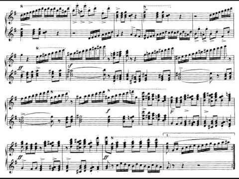 Шуберт Франц - Works for 4 hands D.952 Fugue e-moll (pf/org)