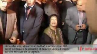 Gaddafi gives 100€ for an orange juice