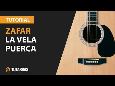 Como tocar ZAFAR de La Vela Puerca en Guitarra Acustica CLASE TUTORIAL