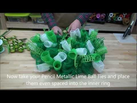 How to make a St Patrick s Day Deco Mesh Wreath - Irish Wreath