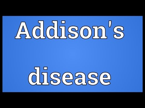 Header of Addison's disease