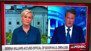 Mike Lupica on Morning Joe discussing Serena Williams in US Open Final